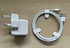 Genuine Apple 12W Charger Plug & iPhone/iPad USB Cable - Sealed