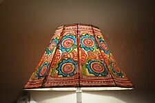 Large Floor Lampshade / Hand Painted Leather Lampshade / Floor Lamp / Large Lamp