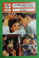 US Romantic Drama Splendor In The Grass Natalie Wood French Film Trade Card