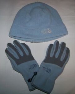 Women's The North Face Fleece Beanie Hat L Large & Winter Gloves XS Extra Small