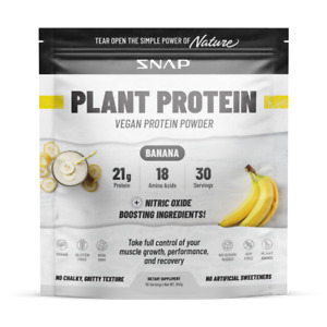 Organic Plant Protein Powder, Muscle Builder & Recovery Vegan Banana 30 Servings