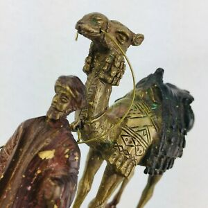 NEW Collectable Camel and Man Brass Figurine