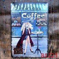 Metal Tin Sign delicious coffee Bar Pub Vintage Retro Poster Cafe ART