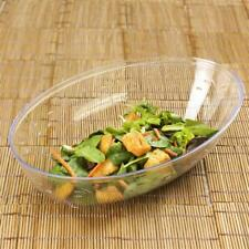 4 /pk Clear Oval 2qt Plastic Disposable Salad Bowl Catering