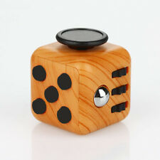 Magic Fidget Cube Toy Anxiety Stress Attention Relief Focus Classic Wood Grain