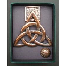 Door Knocker Irish Brass Trinity Knot  Antique Copper, Made in Ireland