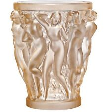 Lalique Crystal (Brand New) - Bacchantes Vase Gold Lustre 10547100 - Height 24cm