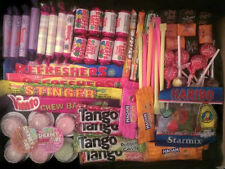 100 Mixed Sweets - Pinata/Party Bag Filler Set Love Heart Lipstick, Parma Violet
