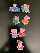 7 Piece Peppa Pig Shoe/ Croc Charms -New