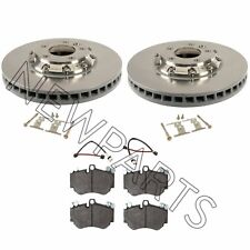 For Porsche Cayenne Set of Front 2 Brake Rotors & Pads+Sensor & Hardware Kit OEM