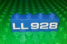 Lego Classic Space Blue 1x4 Brick White LL 928 Rare Block x 1 piece