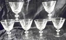 SET OF 6 SMALL TOASTING GLASSES UNKNOWN PATTERN SPC299