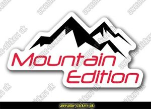 2 x Campervan stickers 016 decal Mountain edition camper motorhome