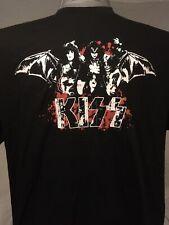🎸Vintage 1990s Kiss Winterland Classic Rock Bat Wing T-Shirt XL RARE 2 Sides!