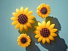Jibbitz Croc Clog Shoe Button Plug Charm Accessories Bracelet 4 Sun Flowers
