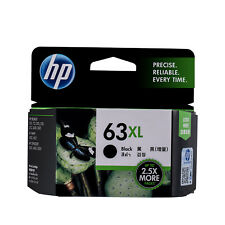 Genuine HP 63XL High Yield Black Ink Cartridges F6U64AN Expired Date 12/2019