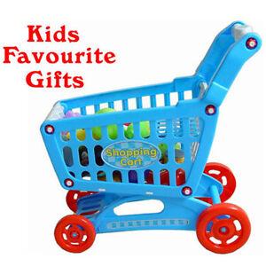 Kids Children Shopping Cart SuperMarket Trolley Toys