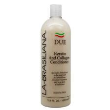 La-Brasiliana Due Keratin And Collagen Conditioner 33.8oz w/Free Nail File