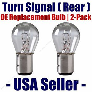 Rear Turn Signal/Blinker Light Bulb 2 pack - Fits Listed Dodge Vehicles 198