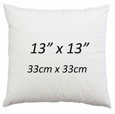 """13"""" x 13"""" Cushion Pads Hollowfibre NonAllergic Cushion Inserts 13 Inch-Pack of 4"""