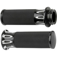 Arlen Ness Black Deep Cut Fusion Hand Grips for 2008-2015 Harley Touring