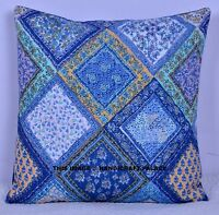 """16"""" COTTON QUILTED PILLOW THROW CUSHION COVER SOFA DECOR BED THROW TOSS PILLOWS"""