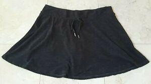 Kyodan Tennis Skort Women's Large Black Performance Skirt w/ Brief Liner