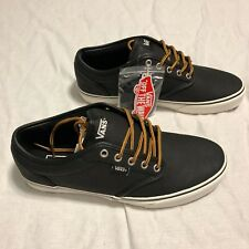 Vans Atwood Leather Black Marshmallow Men's Size 10 VN0A327L68X