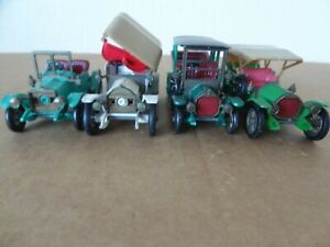 4 MATCHBOX Models of Yesteryear by Lesney  Y - 3, 4, 9,14.needing attention LOT