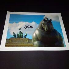 Fernando Botero Artist arte ORIGINALE SIGNED FIRMATO di Photo 15x20