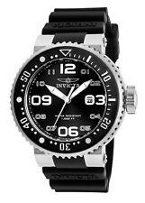 Invicta 21518 Men's Black Dial Black Silicone Strap Date Watch