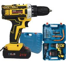 21V Cordless Drill Electric Screwdriver 30pcs Drill Driver Kit+Battery&Charger