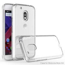 Transparent TPU Soft Silicon Back Case Cover For Motorola Moto G4 Plus 4th Gen