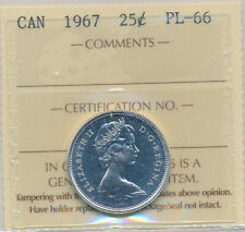 1967 25 cents in PL-66 Certified