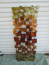 """MID CENTURY MODERN STYLE 46"""" X19"""" 3 DIMENSIONAL WALL HANGING~SCULPTURE FREE SHP"""