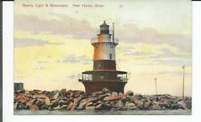 SPERRY LIGHT & BREAKWATER, NEW HAVEN, CONN POSTCARD 1909