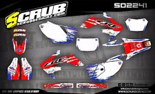 SCRUB Honda graphics decals CRf 250X 2005-2018 Stickers '05-'18 enduro