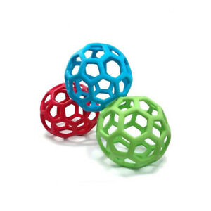 New JW Pet Hol-ee Roller Treat Dog Ball Toy Natural Rubber Random Color 3 Size