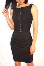 Vestiti da donna neri floreale in misto cotone