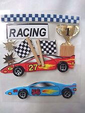 Racing Car Sticker embellishment, Cardmaking, Fathers Day, Scrapbooking