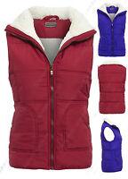 Size 12 14 16 18 Womens GILET BODYWARMER Ladies JACKET PADDED Coat Waistcoat