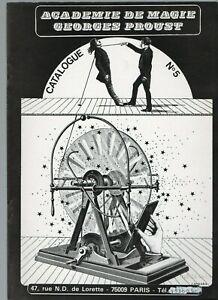 Catalogue n°5 - Académie de magie - Georges Proust - James Hodges 110+ tours