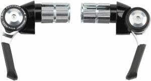 microSHIFT Bar End Shifter Set, 8-Speed Road, Double/Triple, Shimano Compatible,