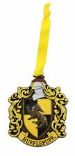 Wizarding World of Harry Potter Hufflepuff Christmas Ornament Metal Enamel Crest