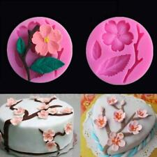 Beautiful Peach Blossom Silicone DIY Fondant Cake Mold Kitchen Baking Tool