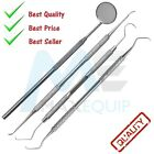 Professional DENTAL 4 PIECE SCALERS Probe Pick SET + Mouth Mirror STEEL Tool KIT