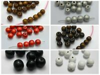"100 Round Wood Beads 12mm(1/2"") Wooden Beads Color for Choice Jewelry Craft DIY"