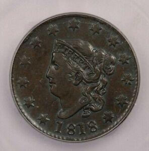 1818-P 1818 Coronet Head Cent 1c ICG VF30 Looks XF