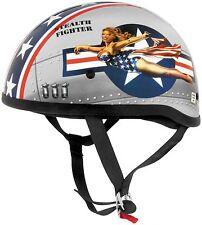 Skid Lid Sexy Girl US USA Flag Half Face Helmet For Harley Davidson Cruiser MD M