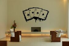 Wall Vinyl Sticker Decal Decor Room Design Ace Card Game Play Fun Casino bo2098